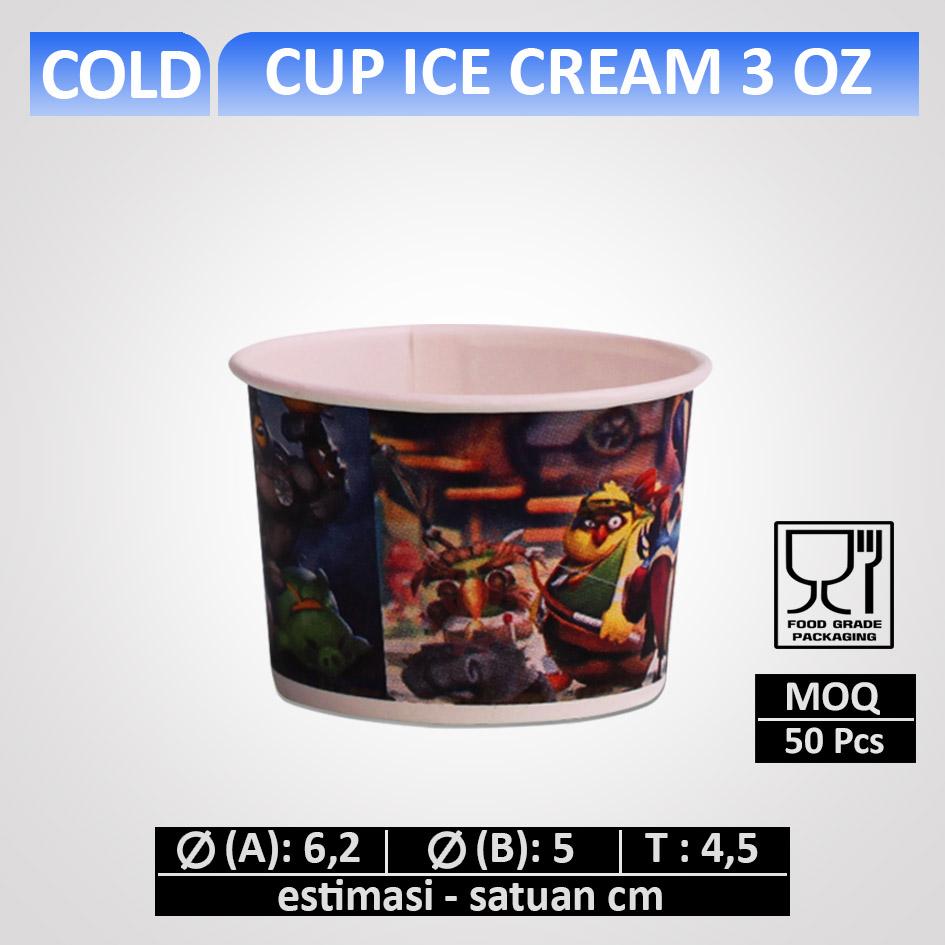 Cup Ice Cream 3 oz