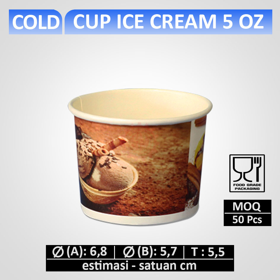 Cup Es krim 5 oz