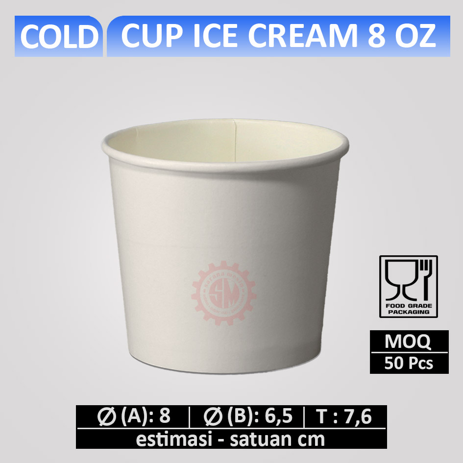 Cup Ice Cream 8 oz