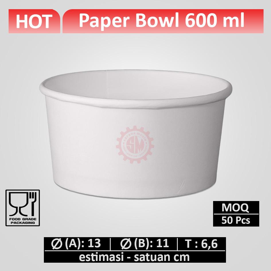 Paper Bowl 600 ml