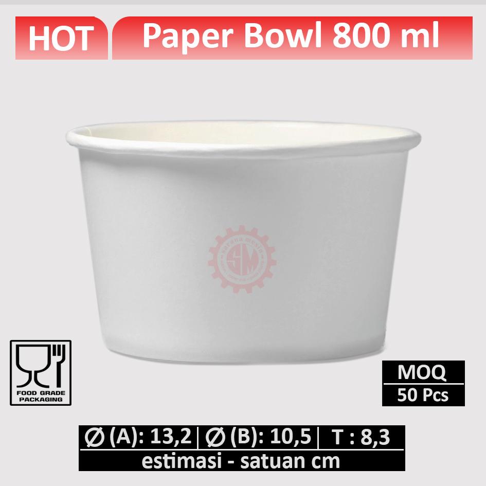 Paper Bowl 800 ml
