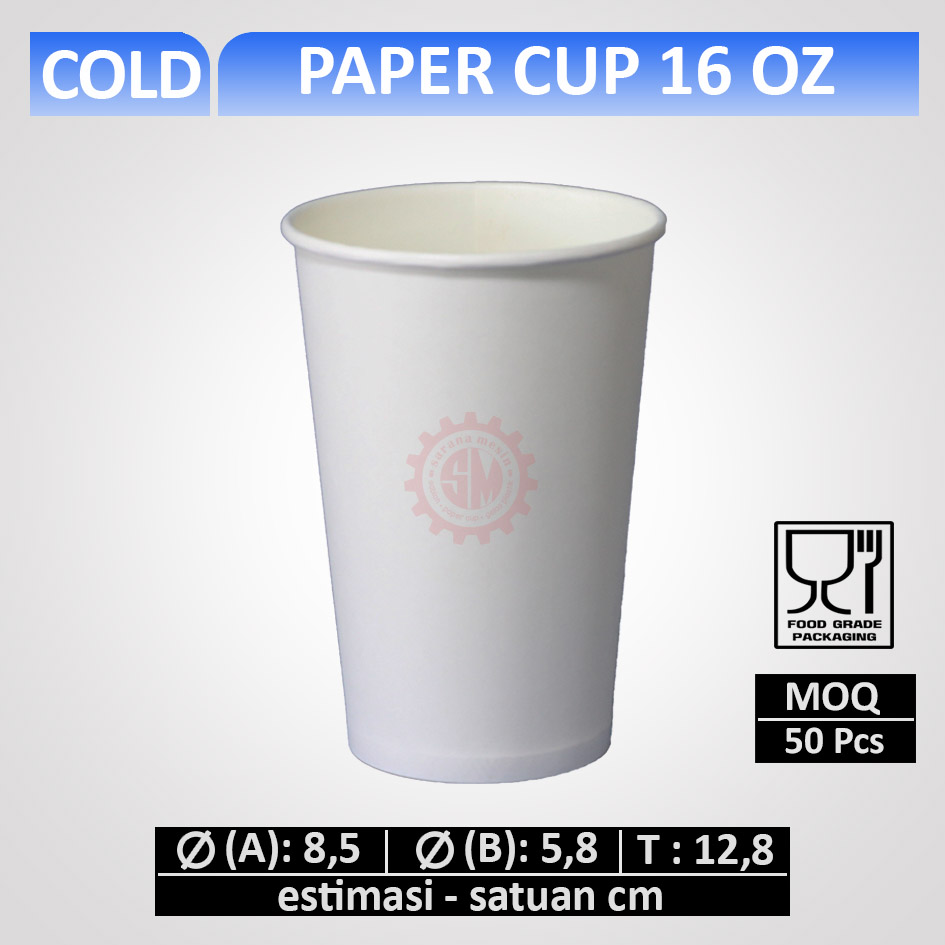 paper cup 16 oz cold