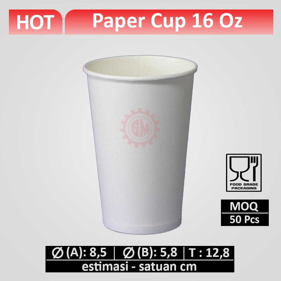 Paper Cup 16 oz, hot