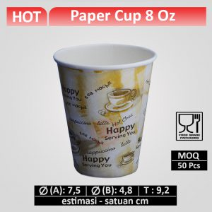gelas kertas 8 oz (printing)