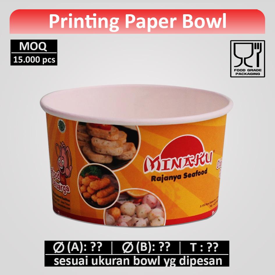 Cetak Paper Bowl (printing)