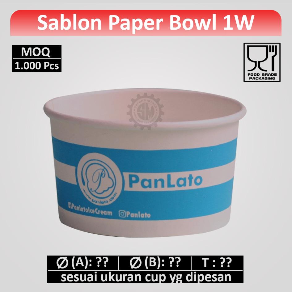 sablon paper bowl