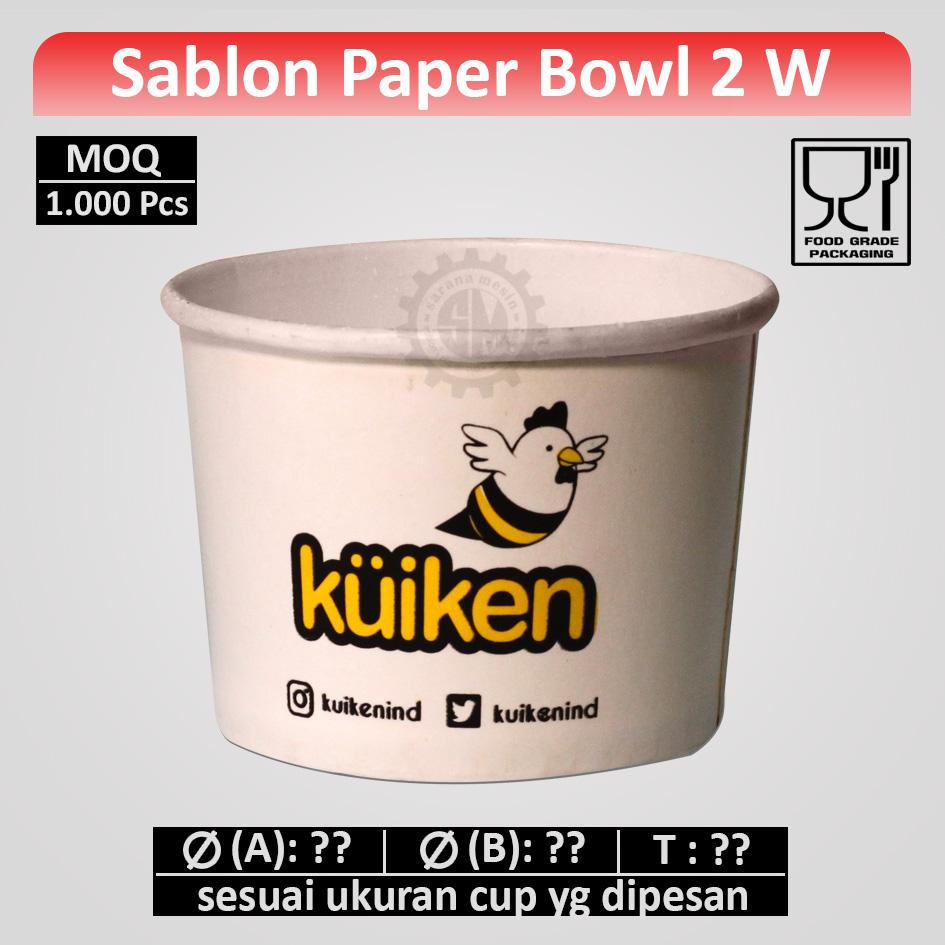Sablon Paper Bowl 2 Warna