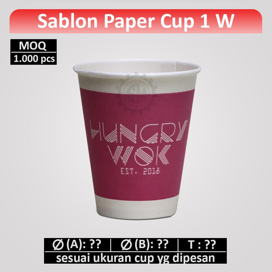 Sablon Gelas Cup 1 Warna